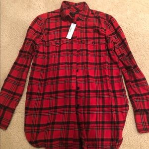 Brand new with tags J Crew flannel